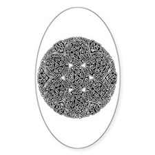 Knotwork Circle Celtic Oval Decal