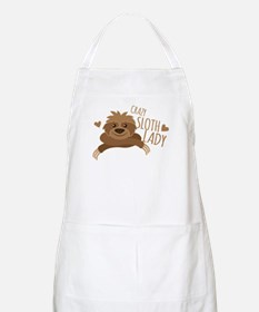 Crazy Sloth lady Apron