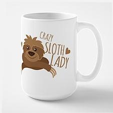 Crazy Sloth lady Mugs