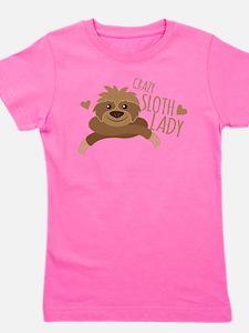 Crazy Sloth lady Girl's Tee