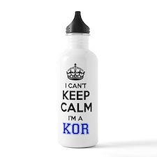 Cute Keep calm kor Water Bottle