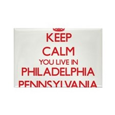 Keep calm you live in Philadelphia Pennsyl Magnets