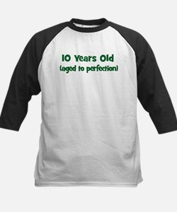 10 Years Old (perfection) Kids Baseball Jersey