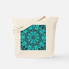 Torquise Crystal Wheel Tote Bag