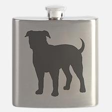 American Bulldog Flask