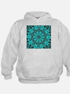 Torquise Crystal Wheel Hoodie