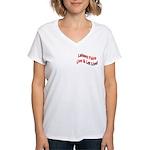 Live & Let Live Women's V-Neck T-Shirt
