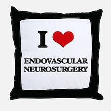 I Love Endovascular Neurosurgery Throw Pillow