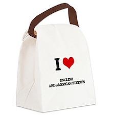 I Love English And American Studi Canvas Lunch Bag
