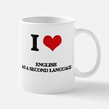 I Love English As A Second Language Mugs