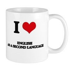 I Love English As A Second Language Mugs