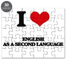 I Love English As A Second Language Puzzle