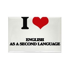 I Love English As A Second Language Magnets