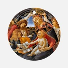 Madonna of the Magnificat Ornament (Round)