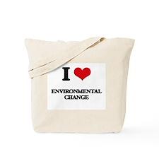 I Love Environmental Change Tote Bag
