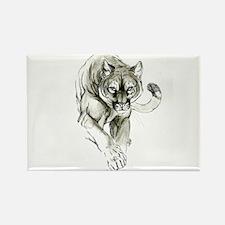 Cute Mountain lion Rectangle Magnet