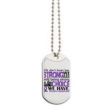 Epilepsy HowStrongWeAre Dog Tags