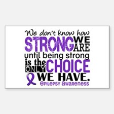 Epilepsy HowStrongWeAre Sticker (Rectangle)