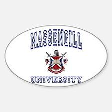 MASSENGILL University Oval Decal