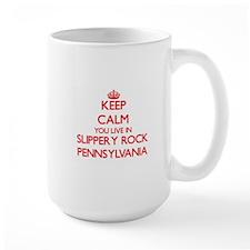 Keep calm you live in Slippery Rock Pennsylva Mugs