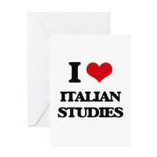 I Love Italian Studies Greeting Cards