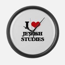 I Love Jewish Studies Large Wall Clock