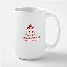 Keep calm you live in South Williamsport Penn Mugs