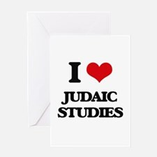 I Love Judaic Studies Greeting Cards