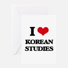 I Love Korean Studies Greeting Cards