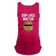 Cop Lives Matter Maternity Tank Top