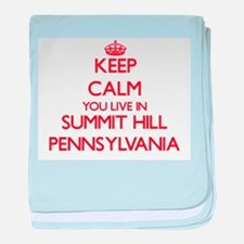 Keep calm you live in Summit Hill Pen baby blanket