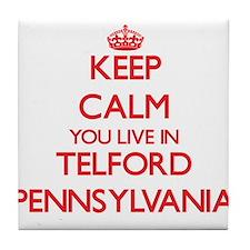 Keep calm you live in Telford Pennsyl Tile Coaster
