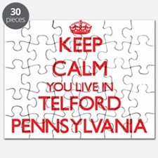 Keep calm you live in Telford Pennsylvania Puzzle