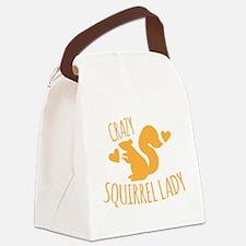 Crazy Squirrel lady Canvas Lunch Bag