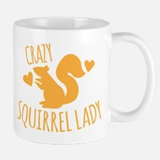 Crazy Squirrel lady Mugs