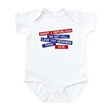 """""""Annoy a Republican"""" Infant Bodysuit"""