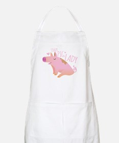 Crazy Pig Lady Apron