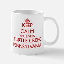 Keep calm you live in Turtle Creek Pennsylvan Mugs