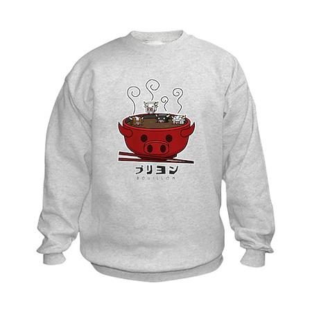 Cow Cube Soup Kids Sweatshirt