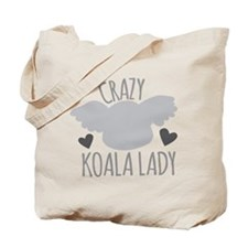 Crazy Koala Lady Tote Bag