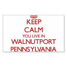 Keep calm you live in Walnutport Pennsylva Decal