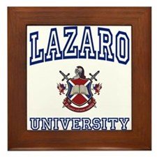LAZARO University Framed Tile