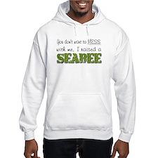 I raised a Seabee (green) Hoodie