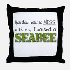 I raised a Seabee (green) Throw Pillow