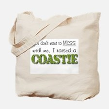 I raised a Coastie (green) Tote Bag