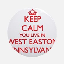 Keep calm you live in West Easton Ornament (Round)