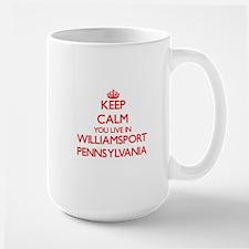Keep calm you live in Williamsport Pennsylvan Mugs
