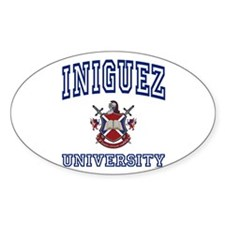 INIGUEZ University Oval Decal