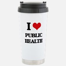 I Love Public Health Stainless Steel Travel Mug