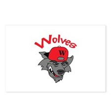 WOLVES MASCOT Postcards (Package of 8)